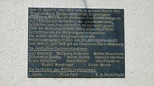 Kassel-Rothwesten Airfield - Plaque on Haus Posen on the Rothwesten conclave (in German)