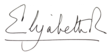 Signature de Élisabeth II