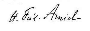 Henri-Frédéric Amiel - Image: Signature of Henri Frédéric Amiel