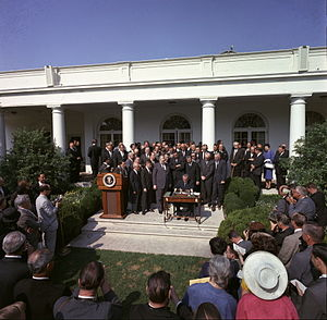 Economic Opportunity Act of 1964 - Signing of the Poverty Bill