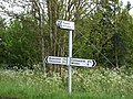 Signpost in the Bedfordshire countryside. - geograph.org.uk - 170550.jpg