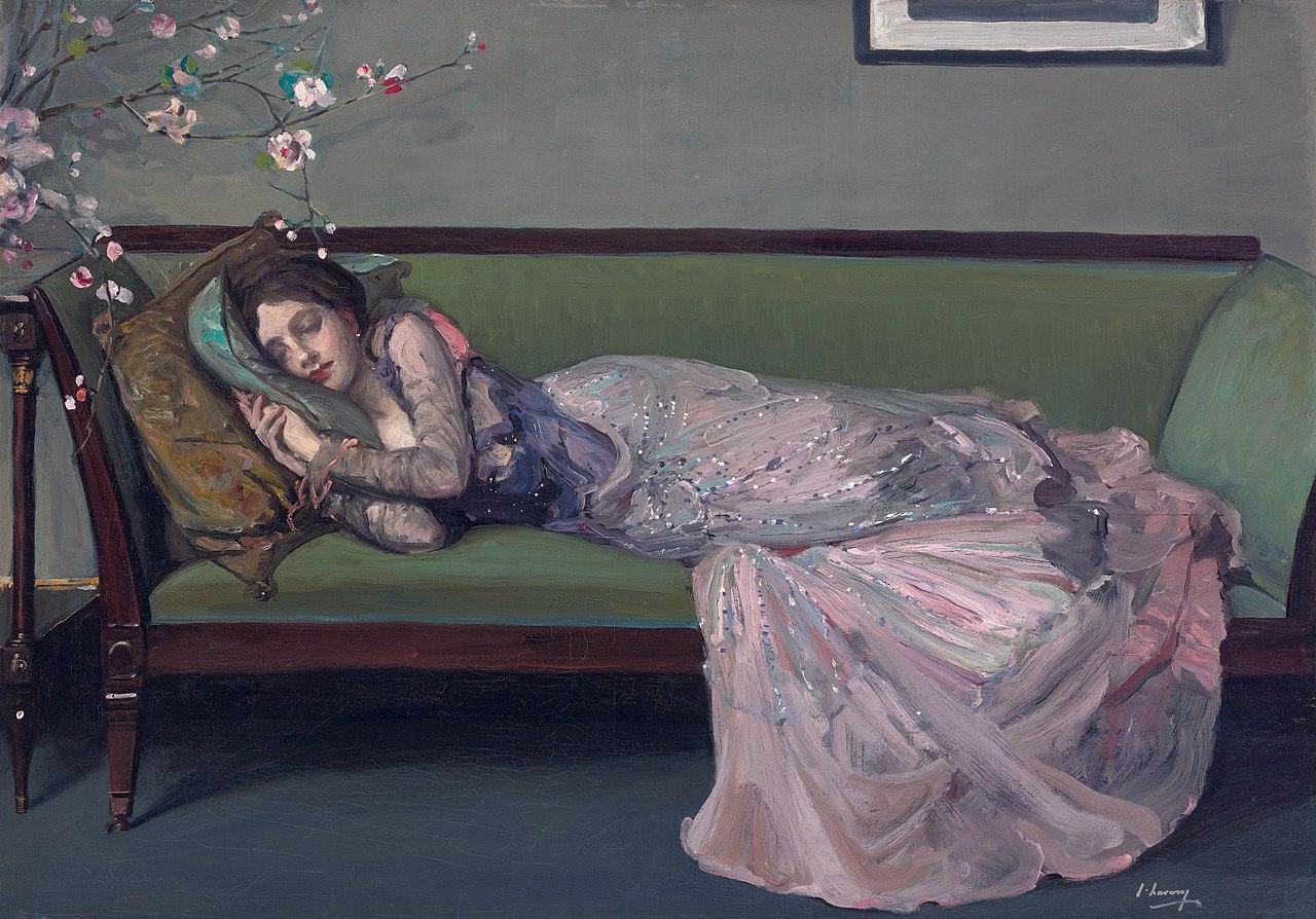 File:Sir John Lavery, The Green Sofa