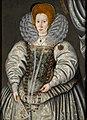 Sir William Segar Portrait of Elizabeth 'Bess' Throckmorton, Lady Raleigh.jpg