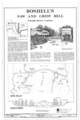 Site Plan and Elevation - Boshell's Mill, Lost Creek at Alabama Route 124, 1.7 miles South of Route 78, Townley, Walker County, AL HAER ALA,64-TOWN,2- (sheet 1 of 1).png