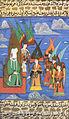 Siyer-i Nebi - Muhammad auf dem himmlischen Thron mit den Erzenegeln um sich.jpg