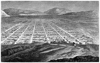 Utah - A sketch of Salt Lake City in 1860