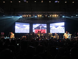 Sleeping with Sirens performing at the SM City North EDSA Skydome in the Philippines