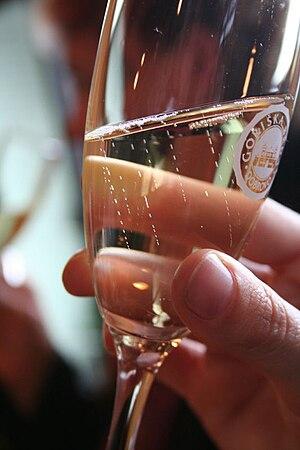 Slovenian wine - A sparkling wine from Brda