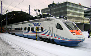 Allegro (train) - Sm6 unit in Helsinki Central station