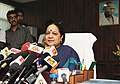 Smt. Jayanthi Natarajan addressing the media after taking the charge of Minister of State (Independent Charge) for Environment and Forests, in New Delhi on July 13, 2011.jpg