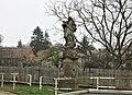 Socha svatého Jana Nepomuckého u mostu v Kostomlatech nad Labem (Q104976250) 01.jpg