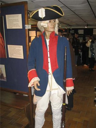 Troupes de marine - Uniform of the marines under Louis XV at the Museum of the 2nd regiment of marines