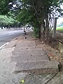 Solid rock sidewalk near the golf course - panoramio.jpg