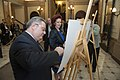 Solvita Āboltiņa un Gruzijas parlamenta priekšsēdētājs piedalās pastmarkas diazaina prezentācijā (10667864736).jpg