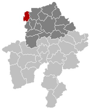 Sombreffe - Image: Sombreffe Namur Belgium Map