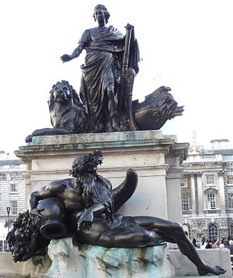 Statue of George III, Somerset House - The statue in 2010