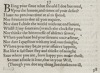 Sonnet 57 poem by William Shakespeare