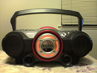 Boombox - Sony boombox circa 2005