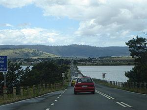 Tasman Highway - Tasman Highway at Midway Point