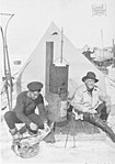 South - the story of Shackleton's last expedition, 1914-1917 - The Stove at Patience Camp Constructed out of old Oil-Drums.jpg
