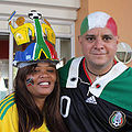 South Africa & Mexico fans at World Cup 2010-06-23.jpg