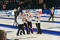 South Korea women's national curling team at WWCC on March 2018 (Draw 9) - 5.jpg