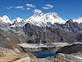 "South face of ""Mount Everest"" from Renjo La Pass (5345m) with Gokyo Lake at the bottom.jpg"