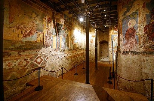 Scuola senese, affrescchi, 1280 circa