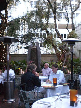Spago - Spago courtyard
