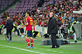 Spain - Chile - 10-09-2013 - Geneva - Alvaro Arbeloa and Vicente Del Bosque.jpg