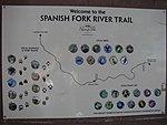 Spanish Fork River Trail sign near 1100 East, Jul 15.jpg