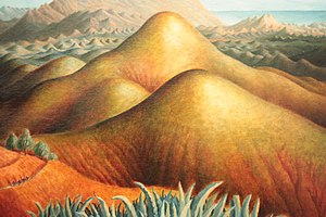 Dora Carrington - Spanish Landscape with Mountains, by Dora Carrington