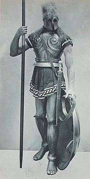 Spartan hoplite-1 from Vinkhuijzen