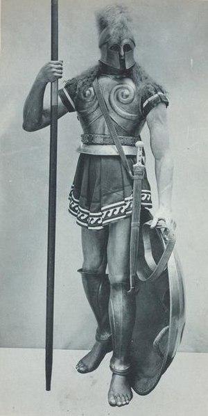 Hoplite - Hoplite. Print from Vinkhuijzen Collection of Military Costume Illustration.