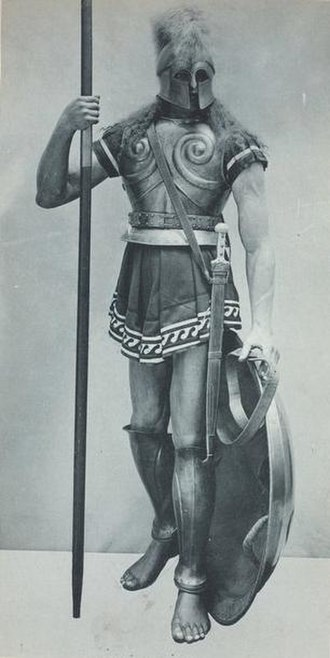 Hoplite - Hoplite. Print from Vinkhuijzen Collection of Military Costume Illustration.