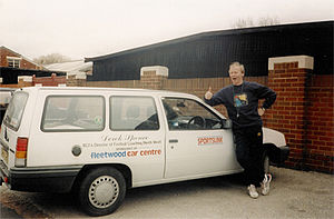 Derek Spence - Spence, posing with his Sportslink car in 1994.