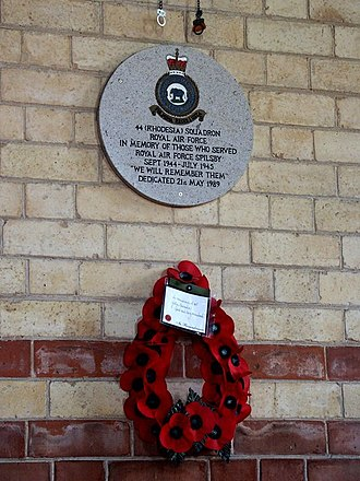 No. 44 Squadron RAF - A memorial plaque in All Saints Church, Great Steeping, to the members of 44 Squadron who flew from RAF Spilsby