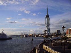 Spinnaker Tower and harbour.JPG