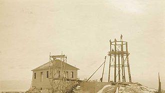 Split Rock Lighthouse State Park - Split Rock Lighthouse under construction in 1909