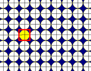 Circle packing - Image: Square tiling circle packing