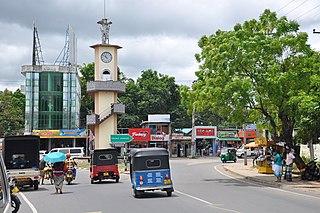 Embilipitiya Town in Sabaragamuwa Province, Sri Lanka