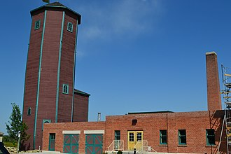 St. Mary's University, Calgary - Image: St.Mary's University College Water Tower and Carriage House