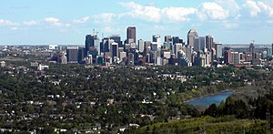 St. Andrews Heights, Calgary - St. Andrews Heights with downtown in background