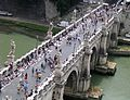 St. Angelo bridge from Castel Sant'Angelo Rome, Italy.jpg