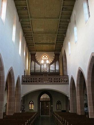 Großweier - Interior of the Grossweier Parish Church of St. Martin