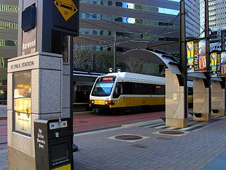 One Dallas Center - Image: St. Paul DART Station