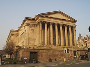 St George's Hall, Liverpool - South side of St George's Hall