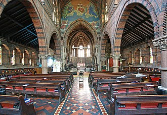 St James the Less, Pimlico - Interior of St James the Less