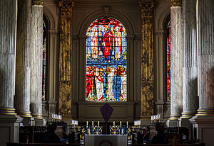 St Philip's Cathedral, Birmingham - The chancel, featuring stained glass by Edward Burne-Jones