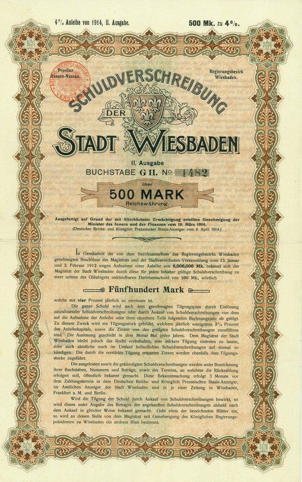 Stadt Wiesbaden 1914